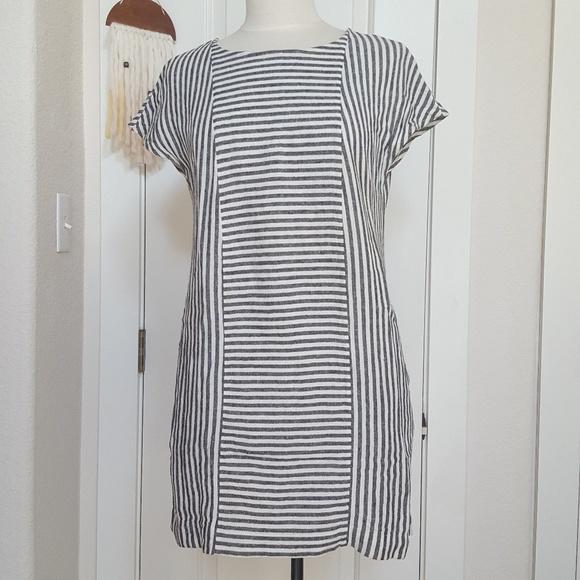 e460375a106 Madewell Dresses   Skirts - Madewell stripe-play button-back tee dress